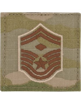 (USAF Scorpion OCP Enlisted Rank (With Hook Fastener, E-8 Senior Master Sergeant with Diamond))