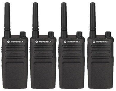 4 Pack of Motorola RMU2040 Two way Radio Walkie Talkies (UHF)