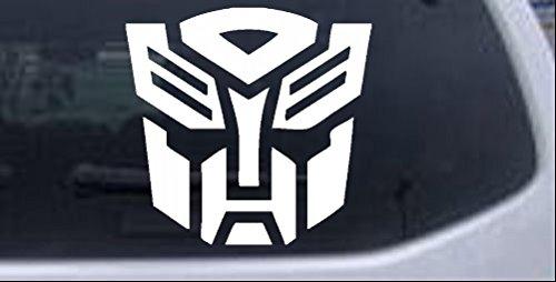 Rad Dezigns Transformers Autobot Symbol Logo Sci Fi Car or Truck Window Laptop Decal Sticker - White 4in X 4.1in