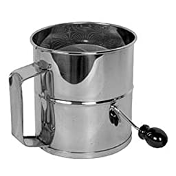 Stainless Steel Flour Sifter 8 cup four wire agitator restaurant bakeware bakery