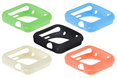 SE Assorted Color 42 mm Silicone Sport Cases for Apple Watches (5 PC.)
