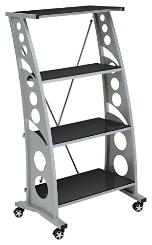 PitStop Furniture  WS5000CF Carbon Fiber Chicane Bookshelf