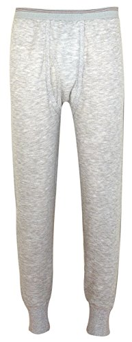 - Indera Men's Two-Layer Performance Thermal Underwear Pant with Silvadur, HeatherGrey, Large