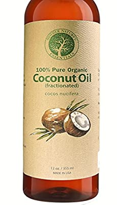 Organic Fractionated Coconut Oil Pure & Natural. Highest Quality Wildcrafted & Organic Carrier Oil and Base Oil Liquid For Aromatherapy - Hair and Skin. Massage Oil. Perfect with Roller Bottles.