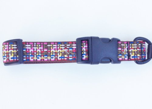 Bison Soft Adjustable Nylon Dog Collar - Chocolate Sprinkles (Large)