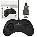 Retro-Bit Official Sega Saturn Controller Pad for Sega Saturn - Original Port - Black