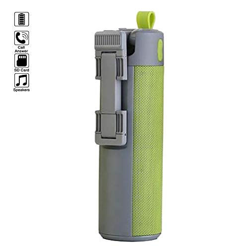 PFMY.DG Selfie Stick Bluetooth Speaker, Multifunctional Extendable Handheld Selfie Stick, Power Bank, TF Card Audio Hands-Free for Outdoor,Most Phone Models,Green