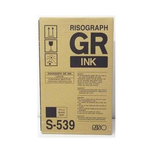 Risograph Inkjet Printer Ink - Risograph S-539 OEM Toner - GR1700 1750 2710 2750 3710 3700 3750 Black Ink (2-1000 cc. Ctgs/Ctn) (10000 Yield)