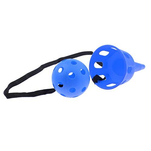 Perfk スポーツ玩具 子供 屋外ゲーム キャッチボールゲーム アウトドア 庭 おもちゃ - 青