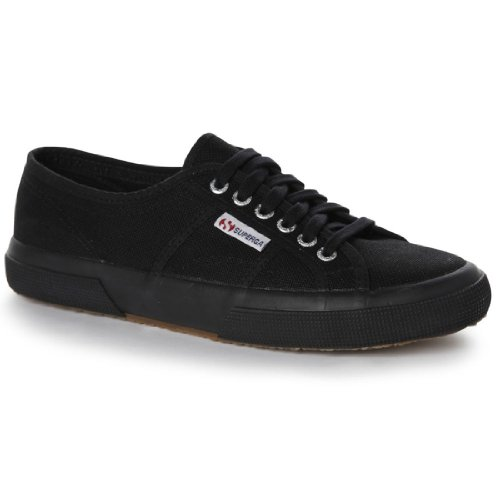 Superga Womens Sneaker Tennis Trainers Black Size 37