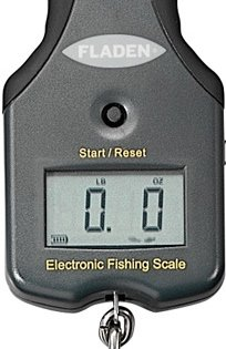 FLADEN Fishing Digital Display kg/lbs Electronic Fish Scales - For Weighing Fresh and Salt Water Fish (Dark Grey - up to 25kg / 55lbs) [36-1625-25]