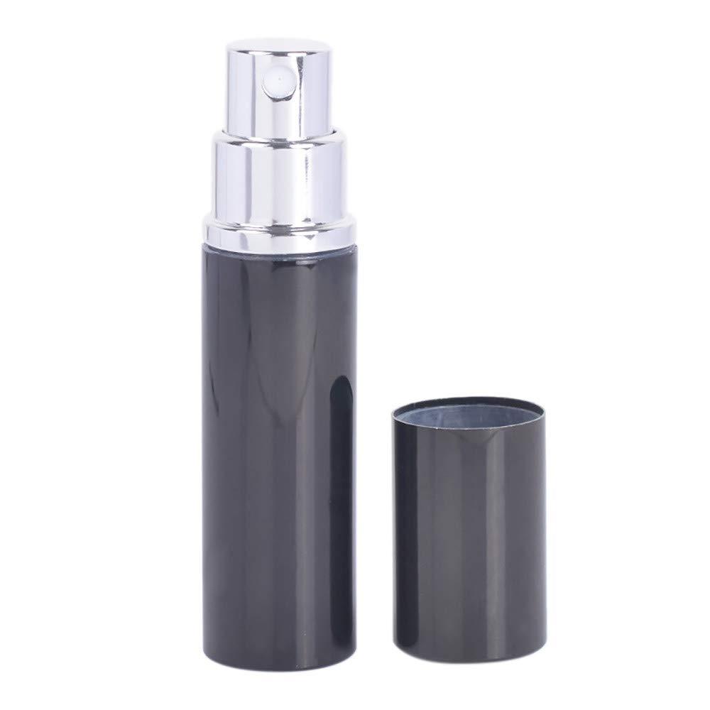 S.H.EEE Portable Mini Travel Perfume Bottle Atomizer For Spray Scent Pump Case (Black)