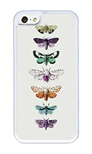 Apple Iphone 5C Case,WENJORS Cute Techno Moth Collection Soft Case Protective Shell Cell Phone Cover For Apple Iphone 5C - TPU White