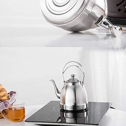 XZJJZ Haute qualité Bouilloire Bouilloire 304 Bouilloire en Acier Inoxydable Teapot Kung Fu Teapot Cooker Bouilloire Bouilloire à thé Plat Restaurant1.5L Kettlebell