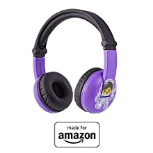 All New, Made for Amazon Volume Limiting Bluetooth BuddyPhones, PlayTime in Purple. Ages (3-7)