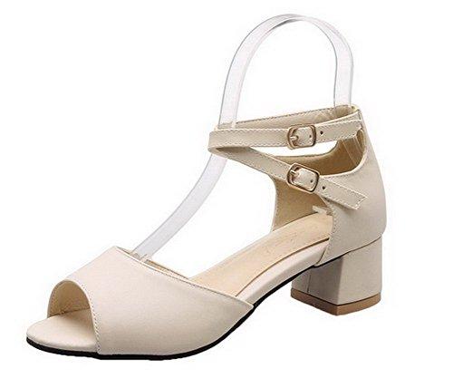 Sandali Pu sandali Heel Solid Beige Aalardom Tsmlg005164 Dress Women Peep Mini con twfUgqz5