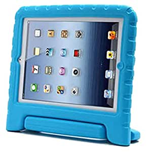Foam Handle Kids Shock Proof Stand Case Cover For iPad 5 iPad Air Light Blue