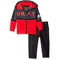 DKNY Baby Boys Lagoon Avenue Fleece Hoody and Black Denim Jean,