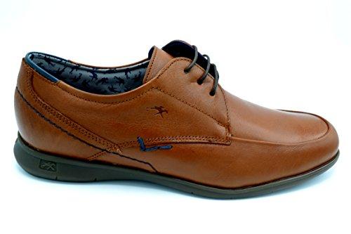 Fluchos 9761 Vacheta Cuero - Zapato de verano con cordones, plantilla extraible.