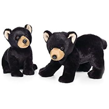 Amazon Com Nat And Jules Sitting Large Black Bear Children S Plush