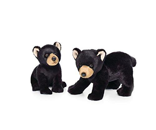 - Nat and Jules Crawling Small Black Bear Children's Plush Stuffed Animal Toy
