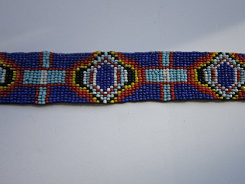 GLASS BEADED STRIPS 3 SIZES BEADWORK TRIBAL NATIVE CRAFTS POW WOW REGALIA S2 (5 x 1)
