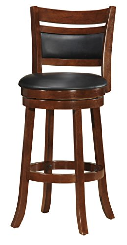 Milton Greens Stars Roberts Counter Height Swivel Barstool, 24-Inch, Dark Brown (For Sale Bar And Bar Stools)