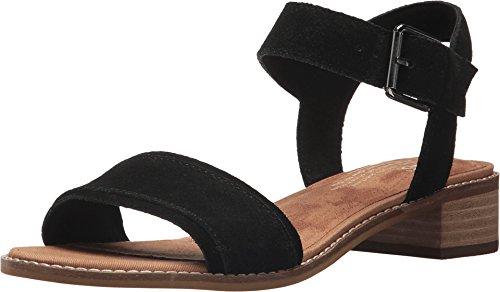 Toms 10011694: Women's Camilia Black Suede Heeled Sandals (10 B(M) US Women, Black Suede)]()