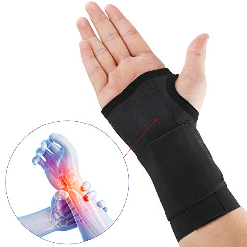 Wrist Brace Wrist Support for Carpal Tunnel Syndrome Arthritis Tendonitis Repetitive Stress Injury Early Cast Removal for Right Hand Black U.S. Solid Product (L/XL)