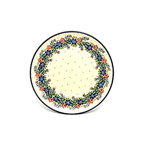 Polish Pottery Plate – 10″ Dinner – Garden Party