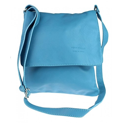 Medium Blue Vera Body Pelle Bag Green Light Italian Genuine Bag soft Medium Company Cross leather Womens Italian tOwqaWTt