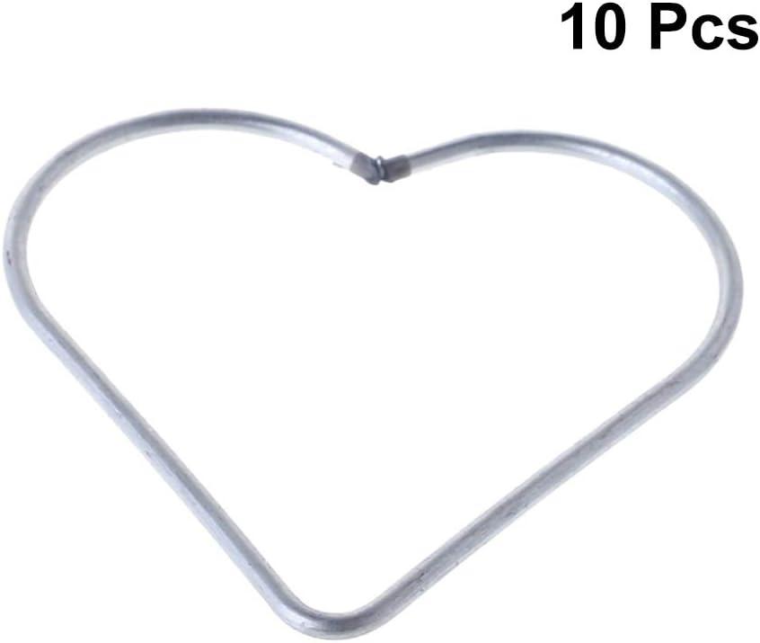 3-inch, Silver Bistore Set of 10pcs Dream Catcher metal hoops Dream Catcher metal rings