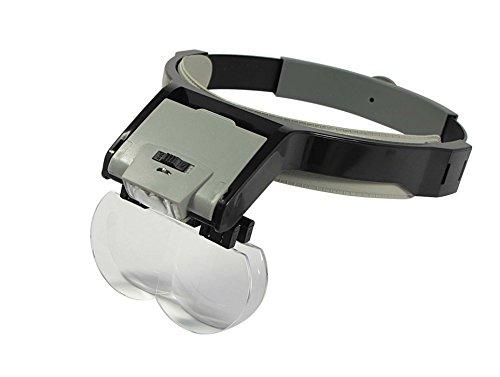 SE MH1048LC Illuminated Multi-Power Head Magnifier