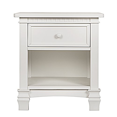 Evolur Cheyenne and Santa Fe Night Stand, Distress White by Evolur