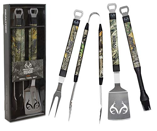 Realtree Edge BBQ Grill Accessories, Includes 18