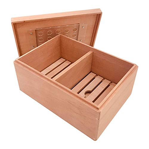 $96.33 antique humidor Cigar Box Cedar Wood Humidor Solid Wood Sealed Portable Cigarette Box Gift for Man 75 Sticks 2019