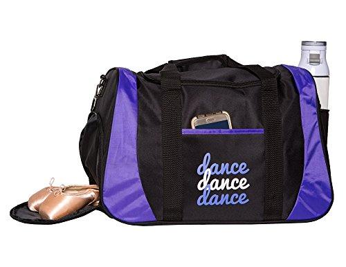 Dance Bag Clip - Horizon Dance 8501 Dance III Medium-Large Dance Bag with Shoe Compartment - Purple