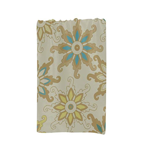 XUGGL Large Towels Bath Pattern Decorative Rosettes Snowflakes On Custom Microfiber Large Printing 32 X 64 Inches Decorative Bath Sheet ()