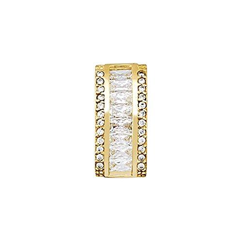 Pendentif 18k or zircons baguette de 4x2mm. [AA4782]