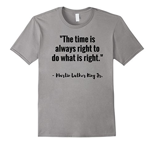 Men's Martin Luther King Jr. Black History Month Shirt Small Slate (This Month In History)