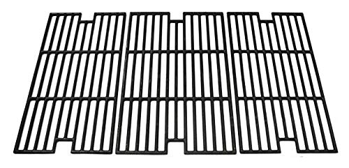 Hongso PCC013 Cast Iron Cooking Grid Set Replacement for BBQ Tek GSC3219TA, GSC3219TN, Master Forge B10LG25 Grill Models, 2BQ05037-2, Set of 3