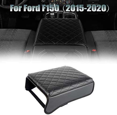 Black TAITONG F150 Console Armrest Cushion Automotive Customized Console Armrest Cushion Compatible with Ford F150 Accessories 2015-2020 Armrest Cover Arm Rest Cushion Pad