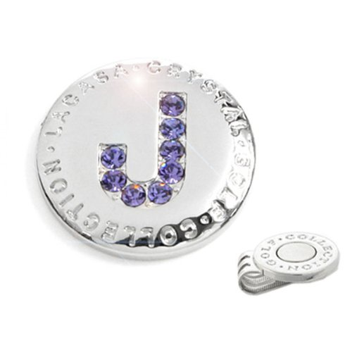 Elixir Golf Crystal Golf Ball Marker with Hat Clip, Initial J