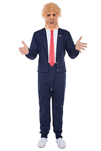 Men's Donald Trump Halloween Costume - President Costume for Men: XX-Large Blue -
