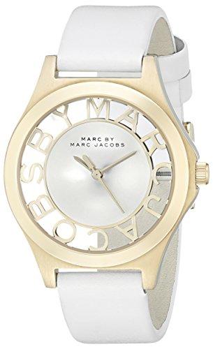 Marc by Marc Jacobs Women's MBM1339 Skeleton Analog Display Analog Quartz White Watch