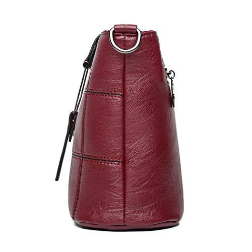 Handle Cruzados Para Talla Kugin Bag Única Granate Mujer Bolso xSqCZwP