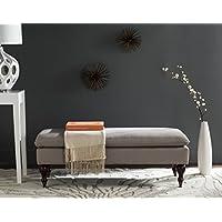 Safavieh Hudson Collection Sutton Putty Linen Pillow Top Bench