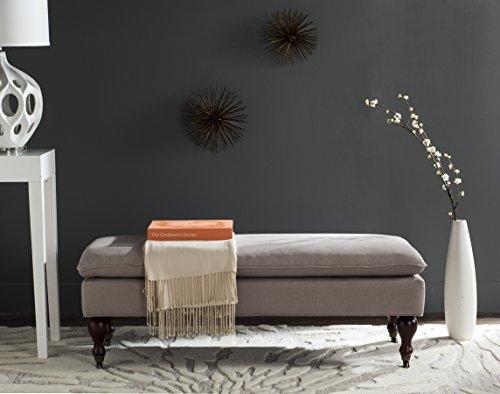 Safavieh Hudson Collection Sutton Putty Linen Pillow Top Bench by Safavieh