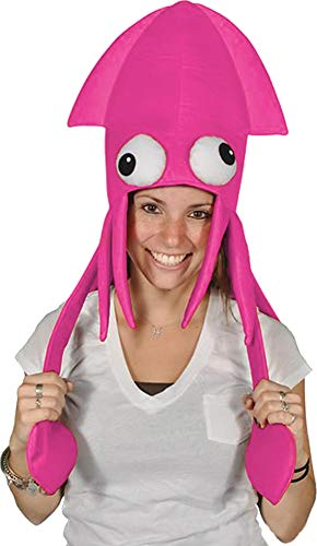 Novelty Pink Squid Octopus Hat Costume Party Hat