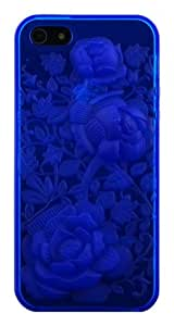 CP IP5TPU06RS 3D Rose Crystal TPU Case for iPhone 5 - 1 Pack - Non-Retail Packaging - Blue